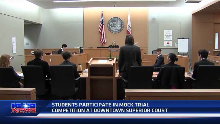 Students participate in mock trial competition at San Diego's Downtown Superior Court