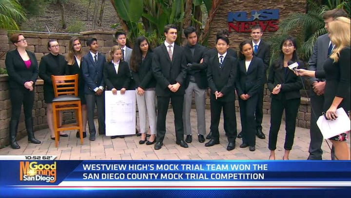 Winners of the 2018-2019 San Diego County High School Mock Trial Competition